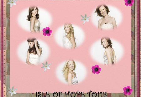 Celtic Woman wallpaper - flowers, frame, pink, celtic woman, wallpaper, background