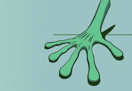 Poze Interesante si Deosebite - flat, hand, green, alien
