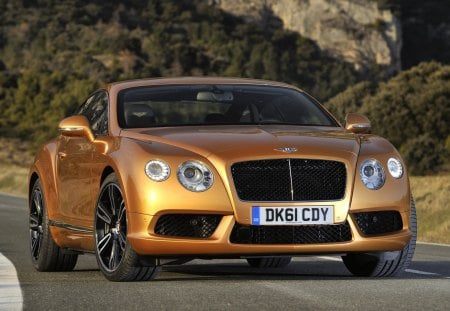 2013 Bentley Continental GT - 13, bentley, gold, black wheels