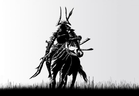 Samurai Rider Fantasy Abstract Background Wallpapers On