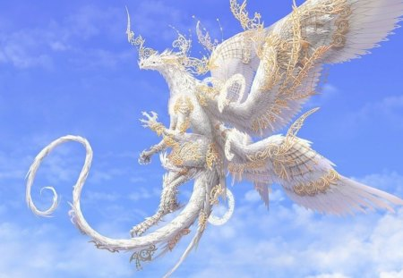 white dragon fantasy abstract background wallpapers on desktop