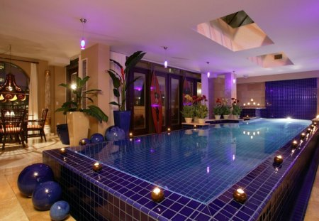 Private Indoor Swimming Pool - interior, architecture, pools, homes