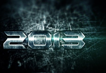 2013 - cool, cg, metal, 2013, dark, new year