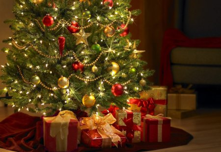 Presents Under the Tree - Photography & Abstract Background ...
