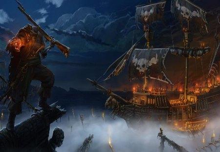 Ghost Pirate Ship Wallpaper Pirate Ghost Ship Wallpaper
