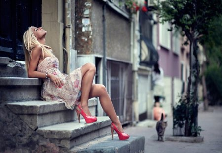 Waiting On A Friend - sensual, erotic, legs, beauty, sexy