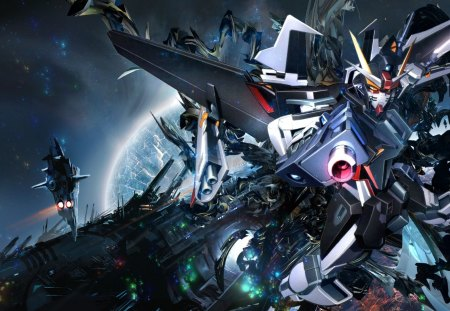 gundam - manga, mecha, space, anime