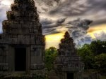 ancient asian temples hdr