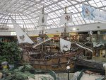 Ship wrecks decorated at the Mall