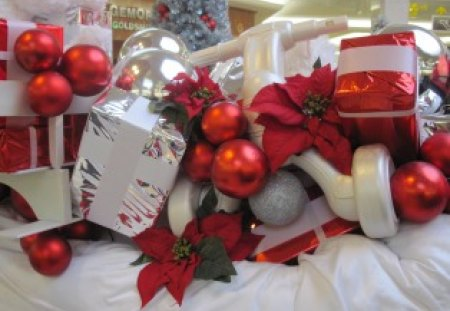 it is the best time of the year - red, photography, boxes, white, silver, poinsettia, ornament, gifts