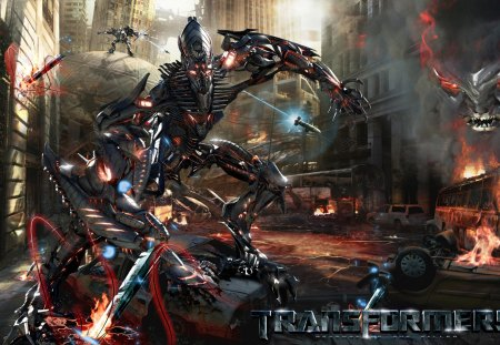 Transformers Revenge of the Fallen - cg, decepticons, abstract, ervin, attack, invasion, the fallen, transformers, autobot