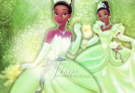Green Disney Princess Tiana Movies Entertainment Background