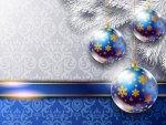 ღ.Christmas Blue Balls.ღ