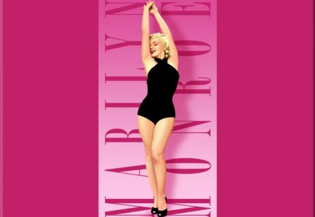 Marilyn Monroe In The Pink - pretty, female, beautiful, marilyn monroe, woman, sweet, cute, actress, people, beauty, pink, icon, vintage