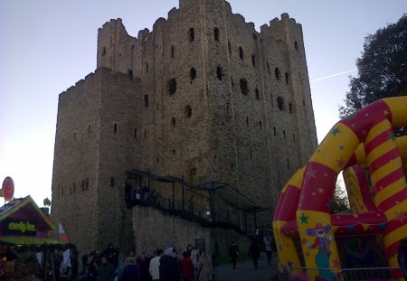 Rochester castle - anchient, rochester, castle, historic