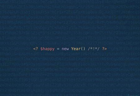 Happy New Year, developers! - php, new year, code, christmas