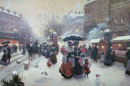 christmas paris christmas holiday paris new year gift market
