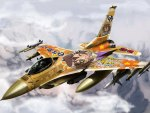 lucky star, f-16, anime