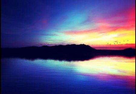 Serenity - beach, nature, serenity, silhouette
