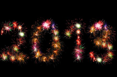 HAPPY 2013 - fire works, sparks, glitters, new year