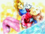 Cloud & Aerith