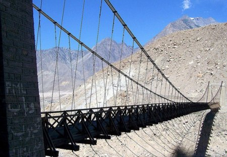 The-Astore-Valley - bridge, pakistan, beauty, nature, beautiful, valley