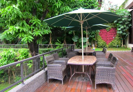 Garden of Hot spring hotel - hotel, outdoor chair and table, hot spring, relax, garden