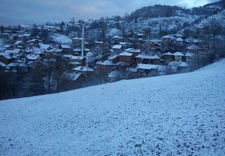 Village in the snow - srbija, kosovo, snow, serbia, vilage