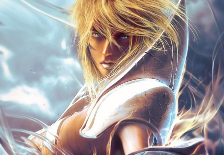 Tia Halibel - armor, blonde hair, anime, arrancar, halibel, espada, bleach, tia halibel, female, armour