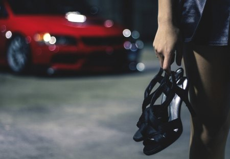 Girl Car Shoes Models Female People Background Wallpapers On