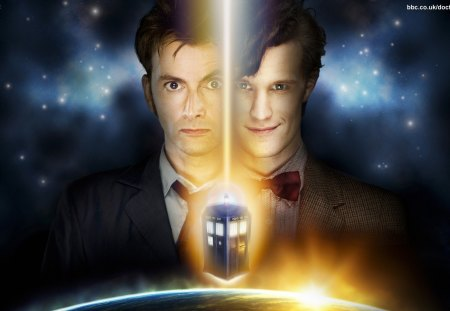 Tenth and Eleventh Doctor - doctor, doctor who, tardis, tenth, eleventh, david tennant and matt smith