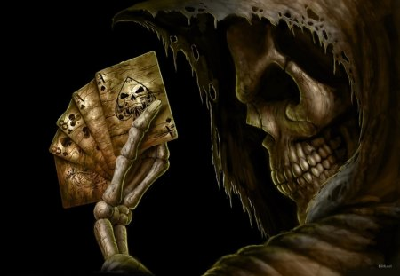 Death - graphic, cards, death, dark, ace, play, 3d