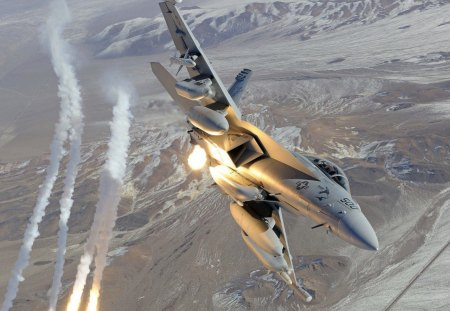 F18 Hornet - f18, fire, wings, hornet