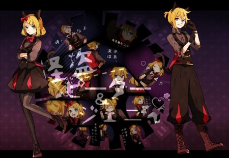 Phantom Thieves Peter and Jenny - vocaloid, kagamine, len, rin