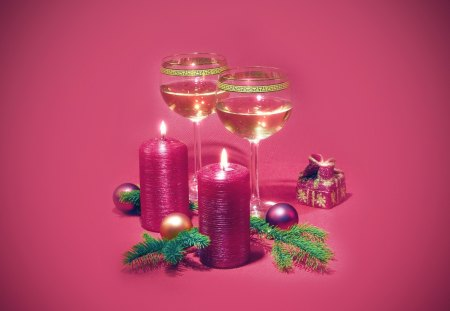 Candle - drink, candle, christmas, wine