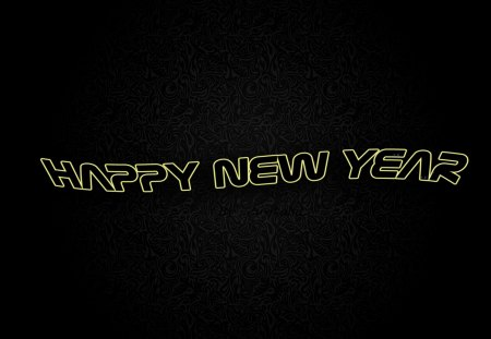Happy New Year - holidays, abstract, new year, background