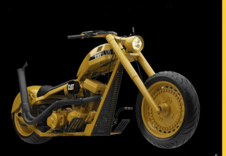 caterpillar - caterpillar, america, customized, harley