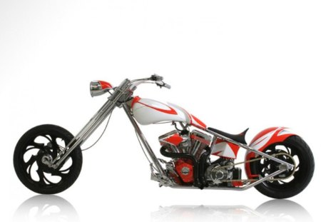 hd - red and white, america, choper, customized