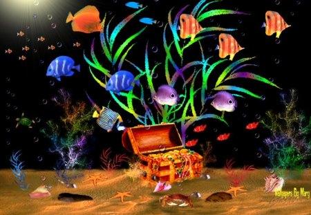 rainbow aquarium fish animals background wallpapers on desktop