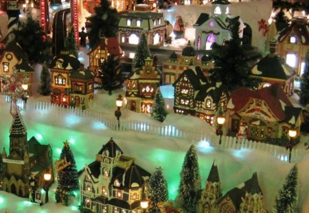 Peaceful Christmas Village