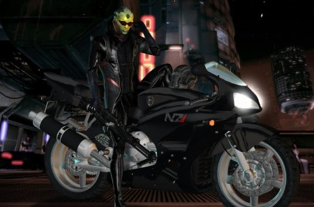 mass effect 3 - mass effect 3, hd, mass effect, rider, game, 1080p, alien, bike