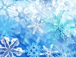 Snowflakes in Blue
