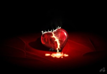 Broken Heart 3d And Cg Abstract Background Wallpapers