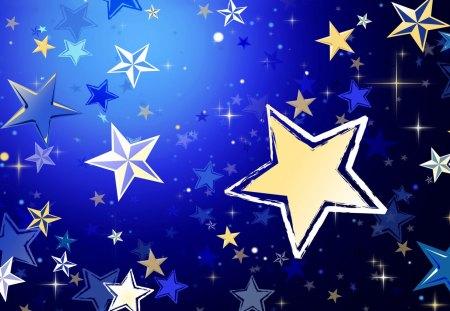 Twinkling Stars - twinkling, stars, art, sky