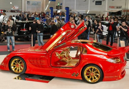 Mercedes McLaren SLR Red Gold Dream - red, gold, mclaren, slr, mercedes, dream
