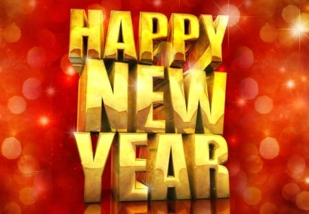 Happy New Year - abstract, holidays, new year, background