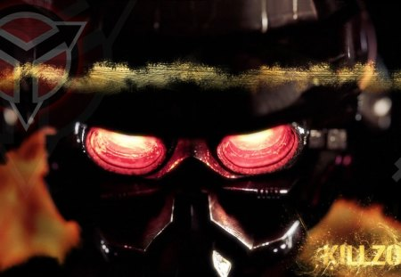 Killzone - red, look, shooter, game, fps, person, inside, satan, devil, eyes, first, killzone, deadly