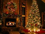 Warm Christmas by the Fire