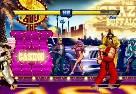 Street Fighter Turbo 2 HD Remix: Balrog Stage - ken, street fighter, balrog, ryu, stage
