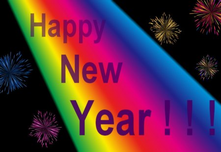 Happy New Year to my DN Friends :) - co1orful, new years, celebration, rainbow, happy new year, happy, 2013, y3ar, fireworks, party